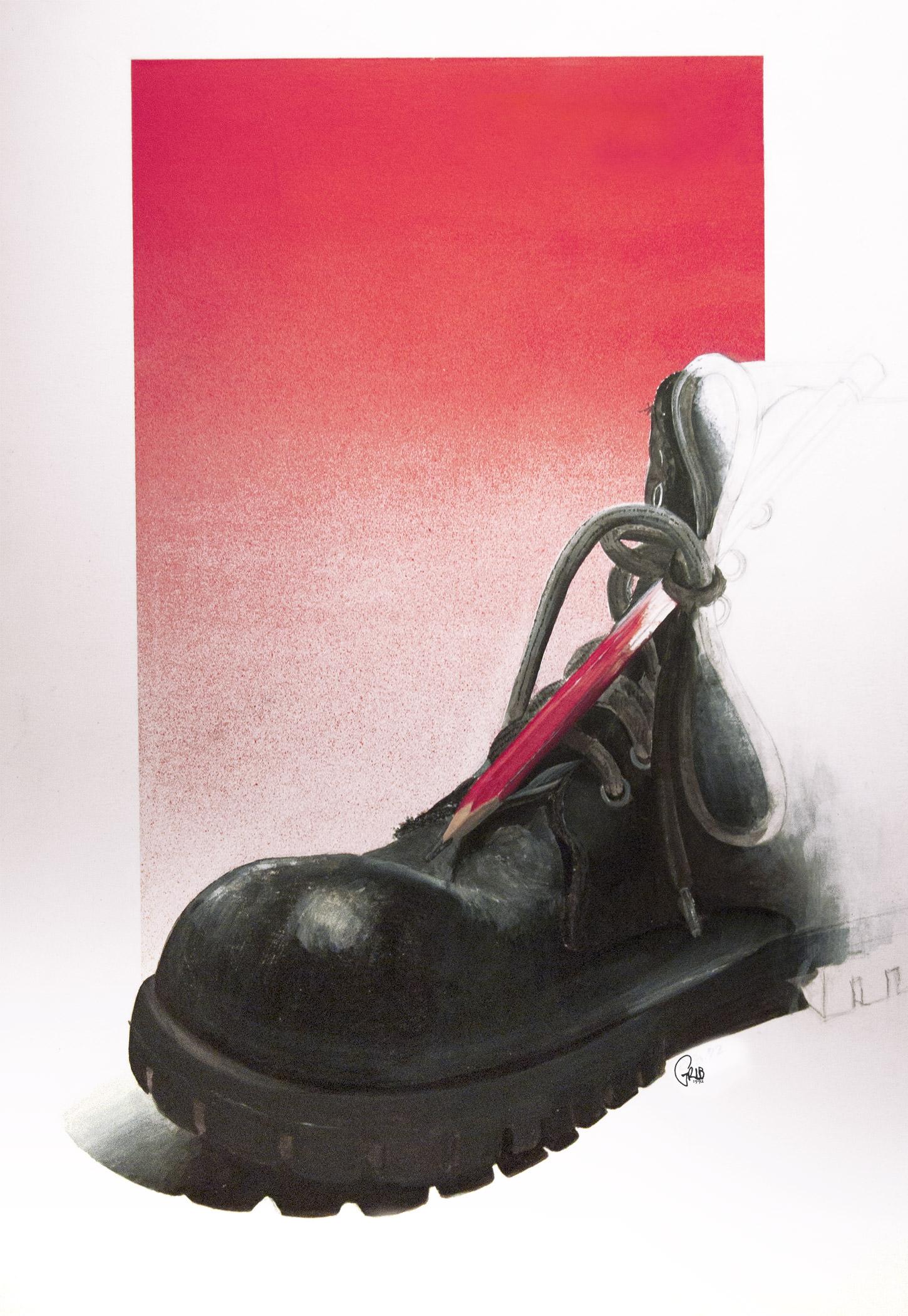 Grib Chaussure Artiste Acrylique
