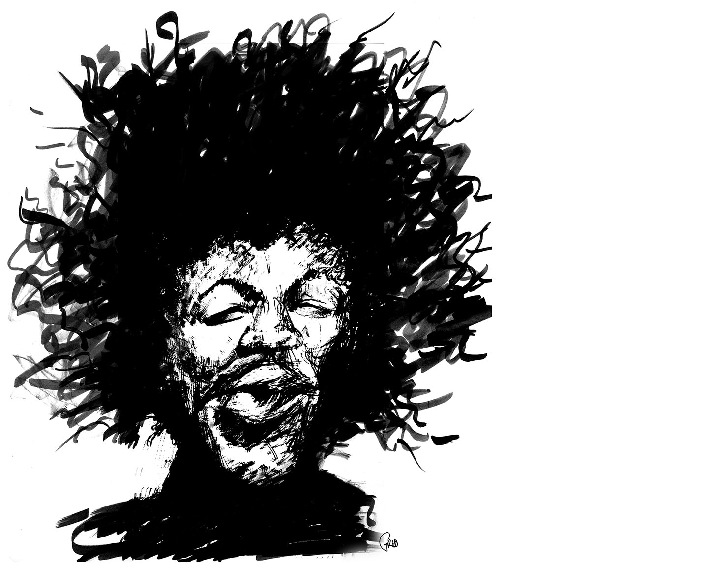Grib Jimmy Hendrix Feutre