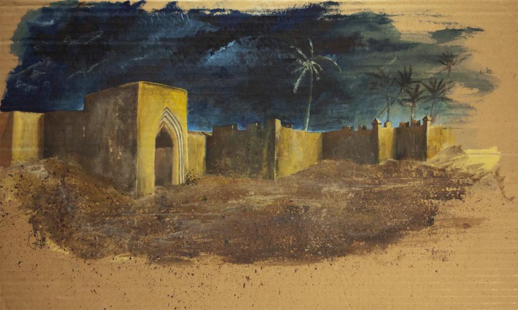 Grib Porte Marrakech Acrylique Gouache